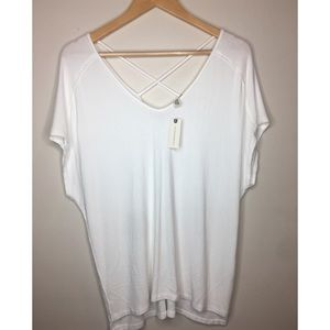 Anthropologie Michael Stars White Top NWT